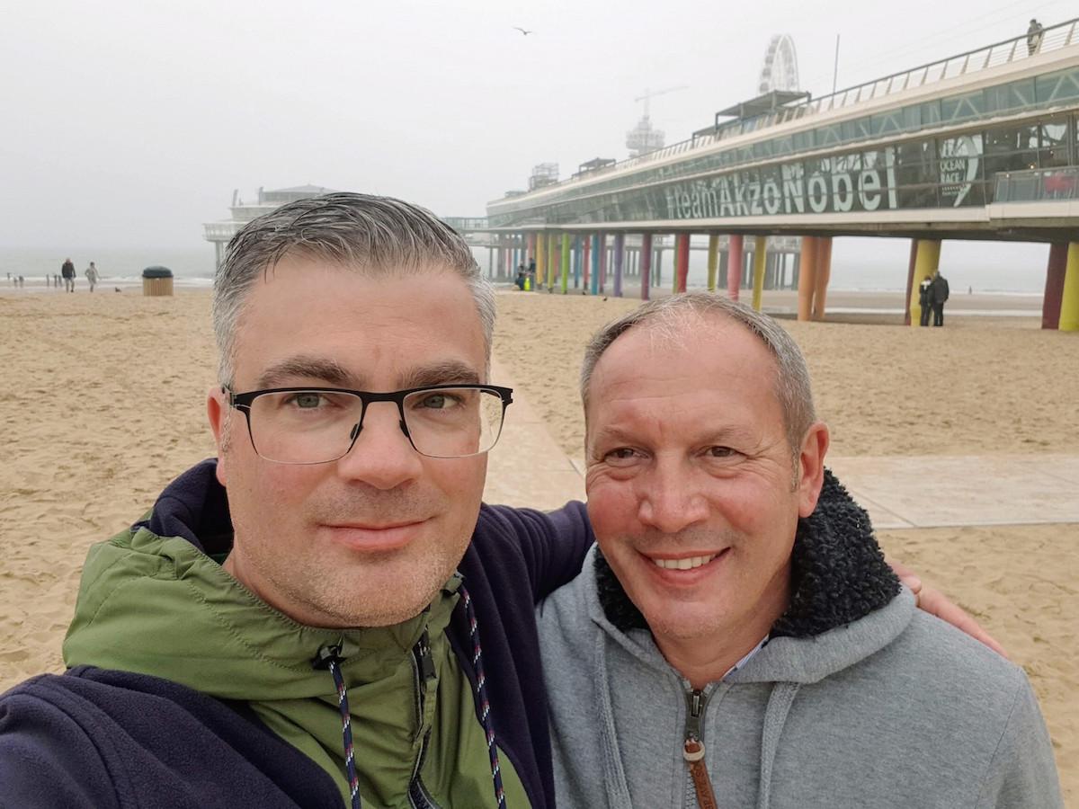 Der imposante Pier am Strand von Scheveningen