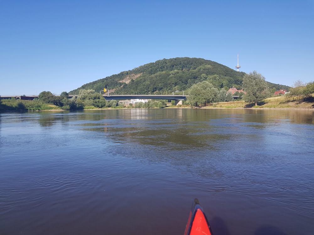 Kanufahren auf der Weser: Porta Westfalica