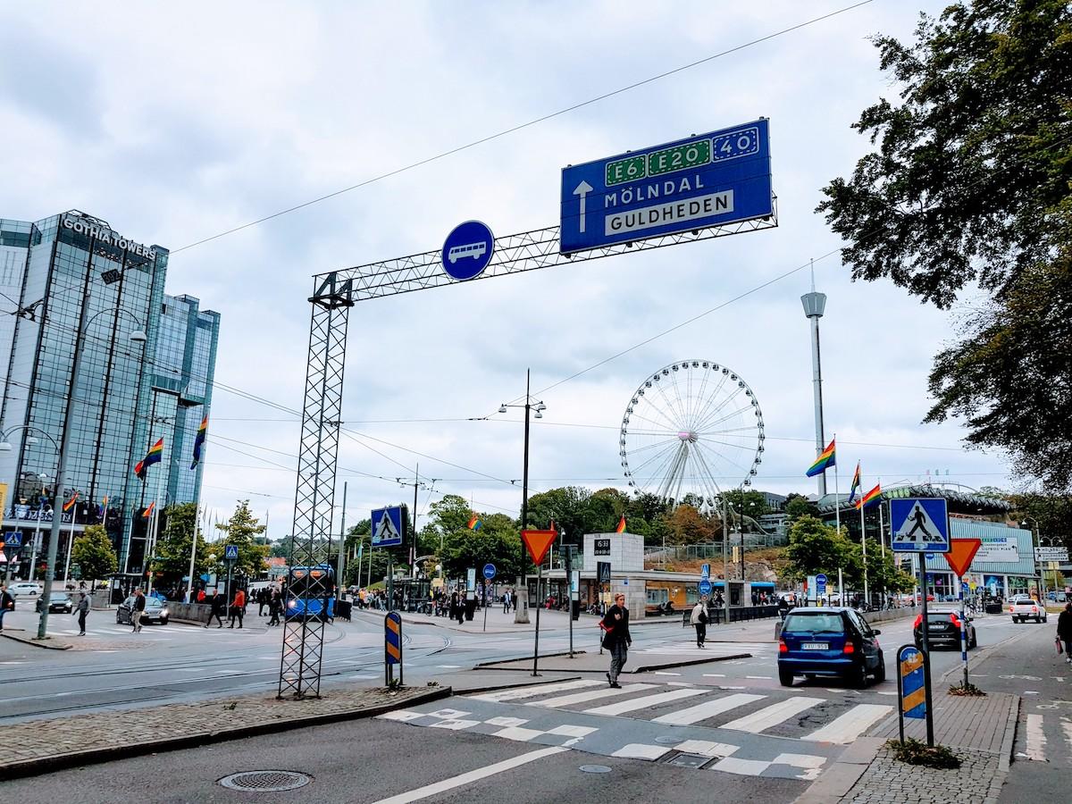 """Der Freizeitpark """"Liseberg"""" liegt mitten in der Stadt"""