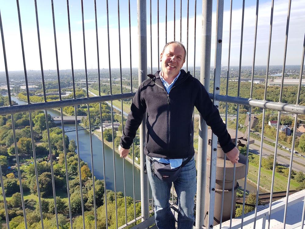 Auf der Aussichtsplattform des Gasometers in Oberhausen