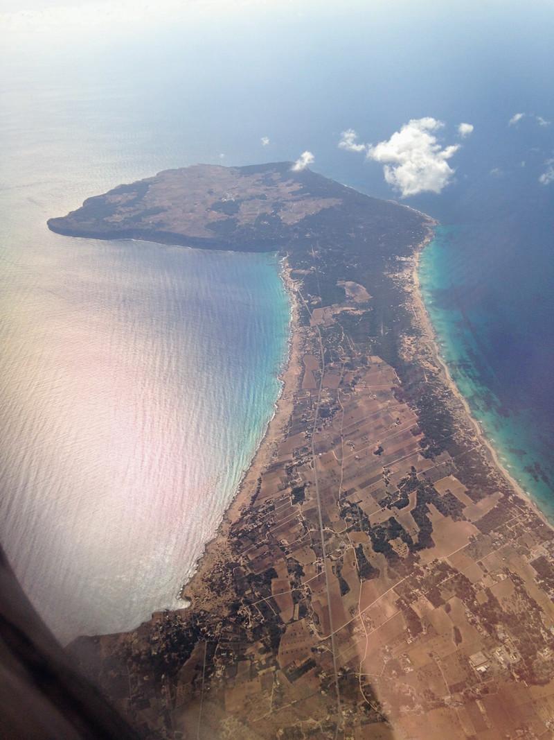 Gayurlaub Formentera: Blick aus dem Flugzeug