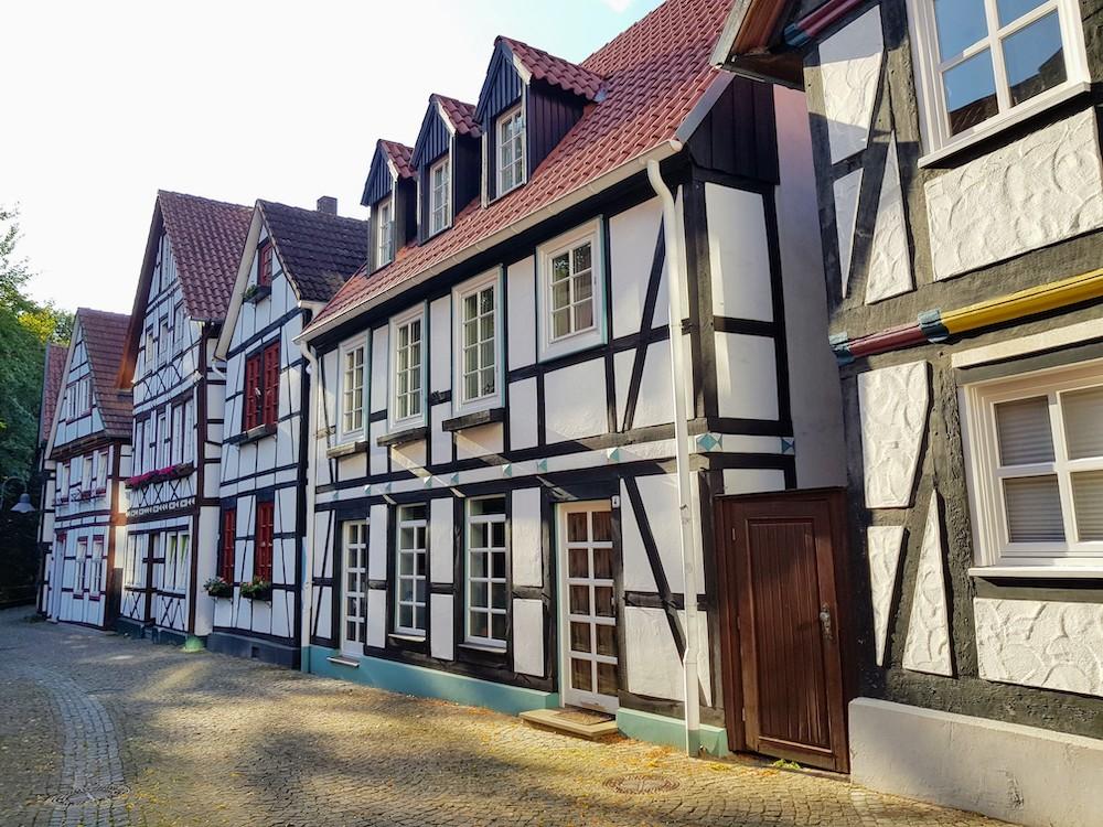 In der Altstadt von Paderborn gibt es viele schöne Fachwerkhäuser