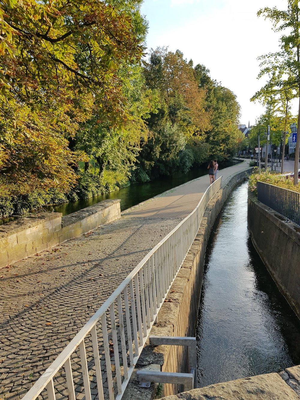 Die Paderquellen durchziehen die Innenstadt von Paderborn