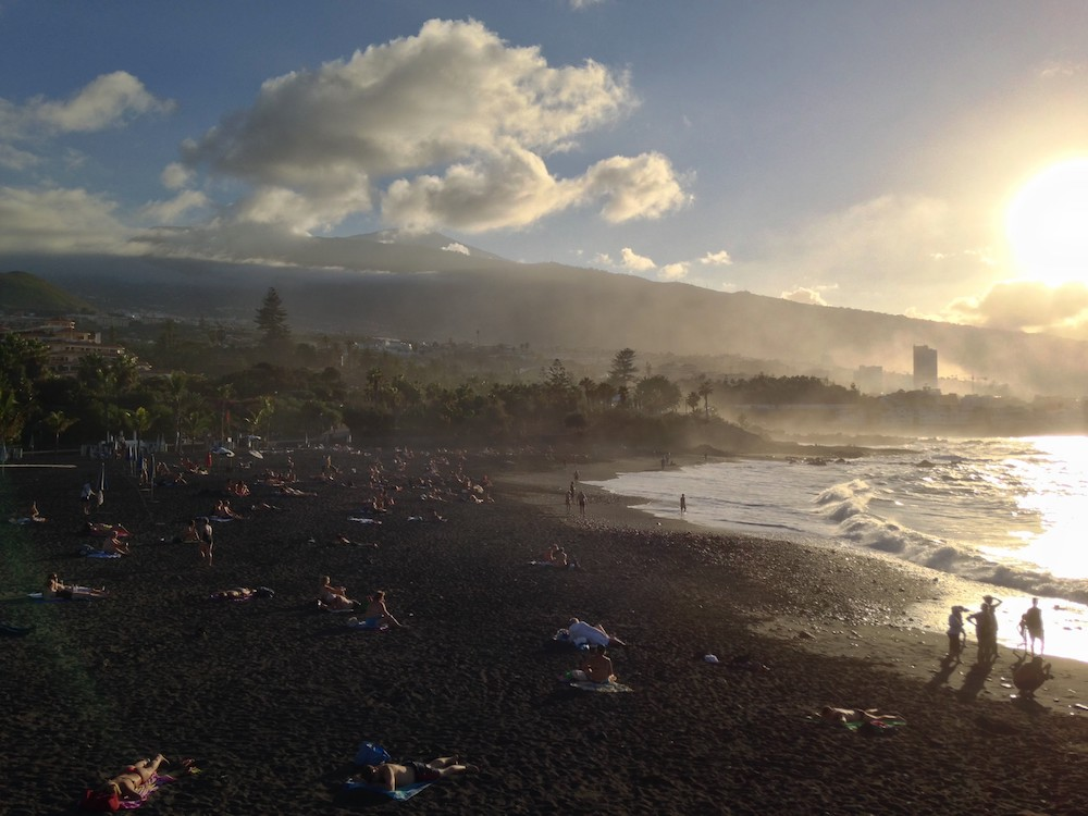 Schönes Teneriffa-Foto am Strand