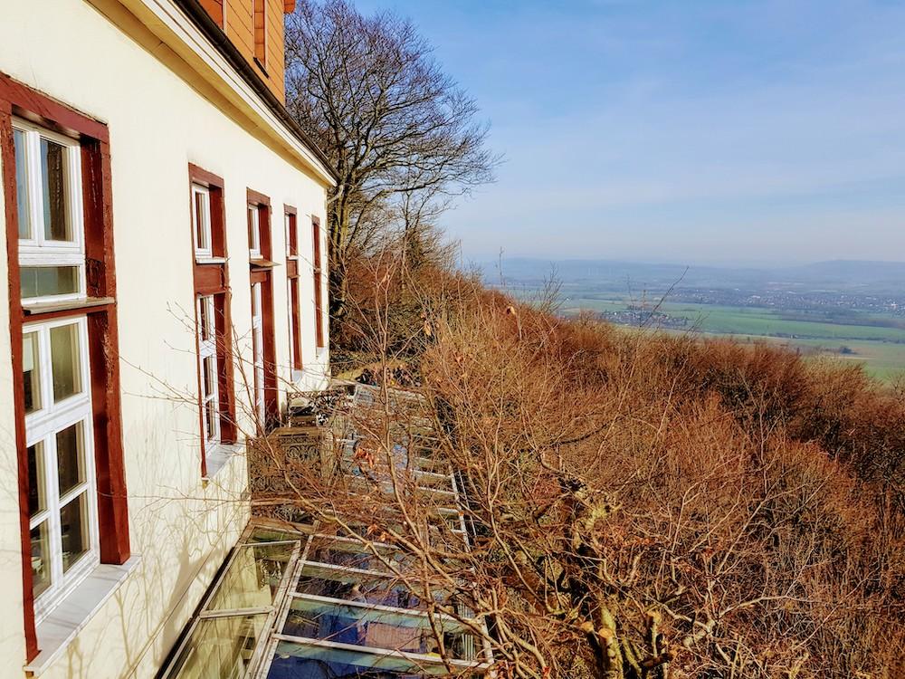Paschenburg: Herrlicher Ausblick über das Weserbergland