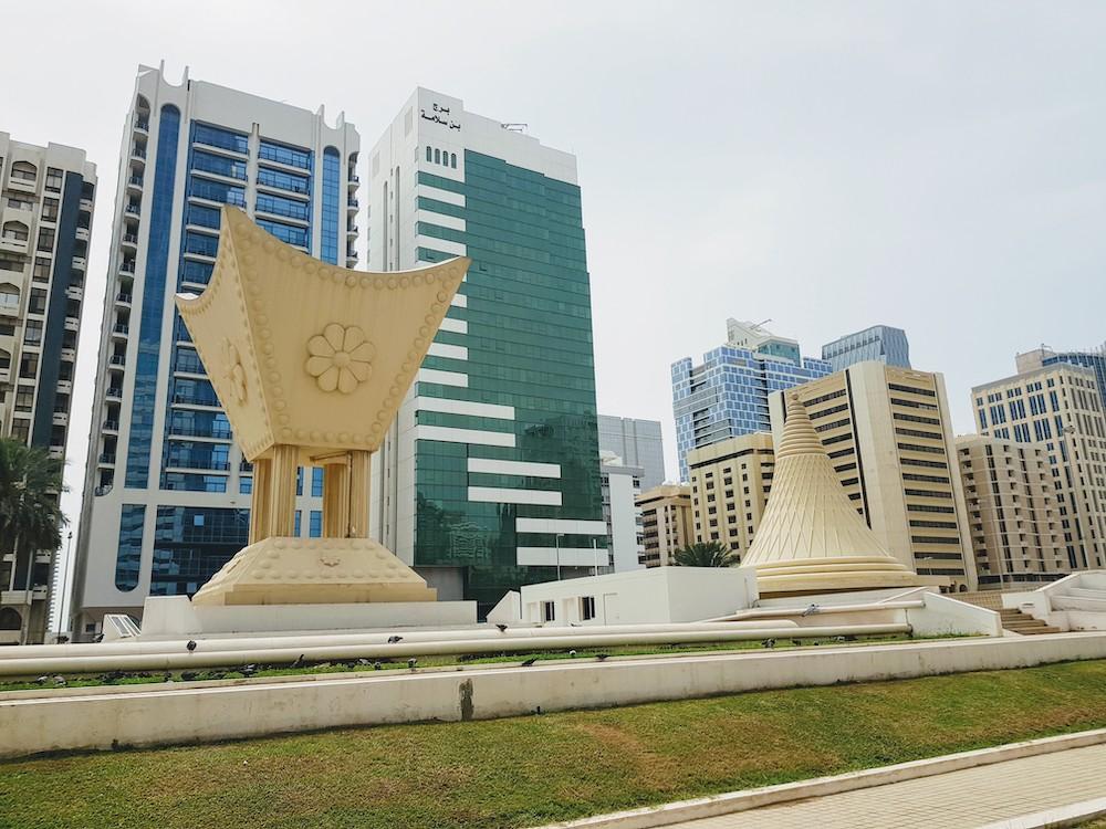 Das Stadtzentrum von Abu Dhabi lässt sich am besten per Fahrrad erkunden