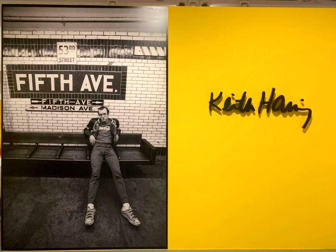 Portrait des Künstlers in der New Yorker U-Bahn