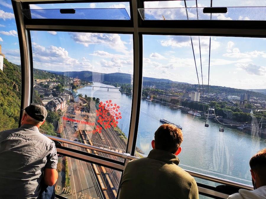 Koblenz: Mit der Seilbahn hinauf zur Festung Ehrenbreitstein